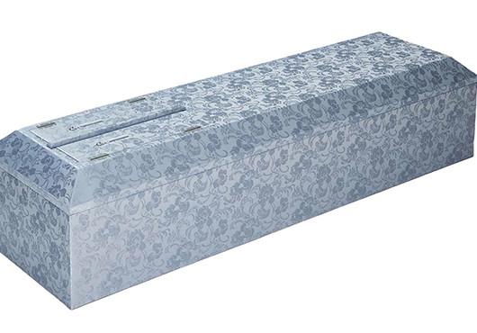 高級布張棺ブルー